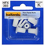 image of Halfords Trim Panel Nuts (HFX365)