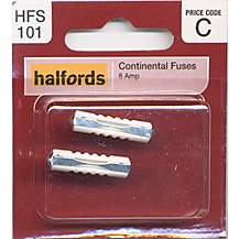 image of Halfords Continental Fuses (HFS101) 8 Amp