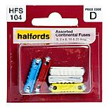 Halfords Assorted Continental Fuses