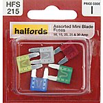 image of Halfords Assorted Mini Blade Fuses