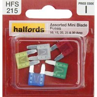 Halfords Assorted Mini Blade Fuses