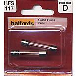 Halfords Glass Fuses 2 Amp