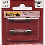 image of Halfords Glass Fuses 3 Amp