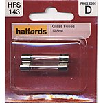 image of Halfords Glass Fuses 10 Amp