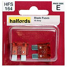 image of Halfords Blade Fuses 10 Amp