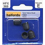 image of Halfords Tyre Valve Dust Caps (HFX368)
