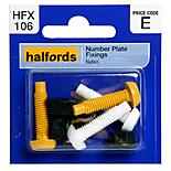 Halfords Number Plate Fixings (HFX106)