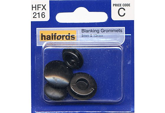 Halfords Blanking Grommets 9 & 13mm