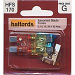 image of Halfords Assorted Blade Fuses (HFS170)