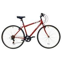 "Trax T700 Hybrid Bike - 18"", Red"