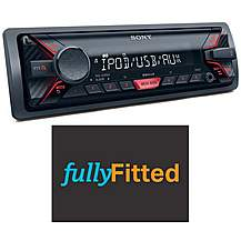 image of Sony DSX-A200UI Car Stereo with fitting bundle