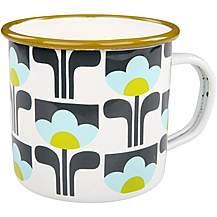 image of Orla Kiely Enamel Mugs x 4