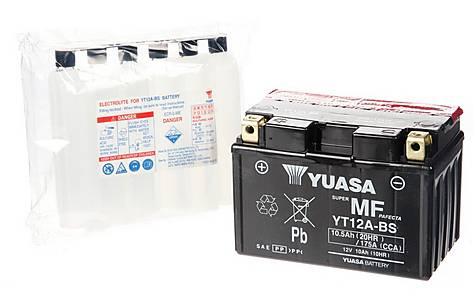 image of Yuasa YT12A-BS Powersport Motorcycle Battery