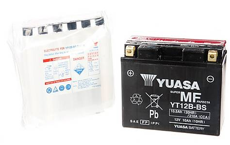 image of Yuasa YT12B-BS Powersport Motorcycle Battery