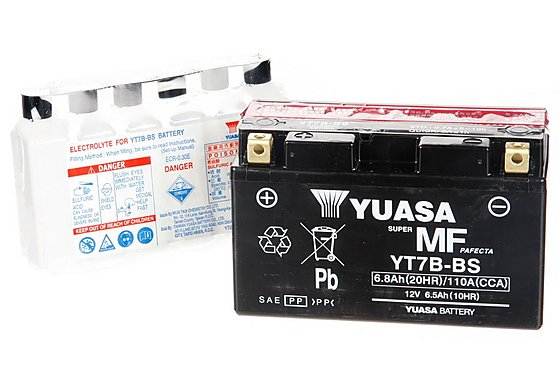 Yuasa YT7B-BS Powersport Motorcycle Battery