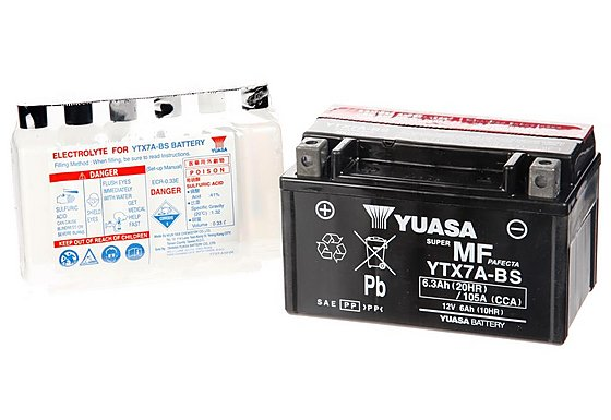 Yuasa YTX7A Powersport Motorcycle Battery