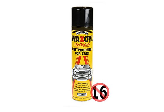 Hammerite Waxoyl Rustproofing for Cars Aerosol 400ml Clear