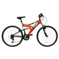 Trax TFS.1 Mens Full Suspension Mountain Bike - 18""
