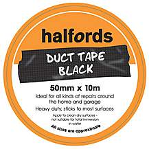 image of Halfords Duct Tape Black 50mm x 10m