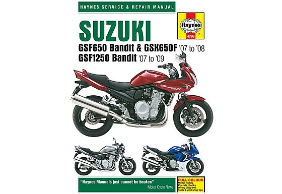 Haynes Manual - Suzuki GSF650 / 1250 Bandit & GSX650F