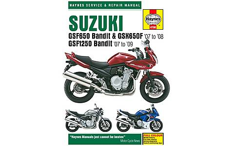 image of Haynes Manual - Suzuki GSF650 / 1250 Bandit & GSX650F