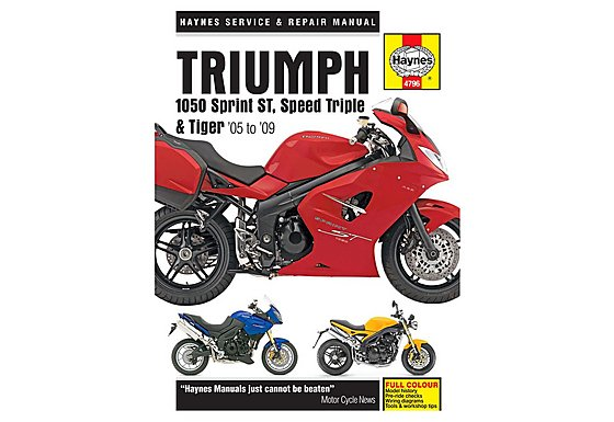 Haynes Manual - Triumph 1050 Sprint  ST,  Speed Triple & Tiger