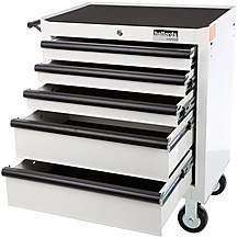 image of Halfords Industrial 5 Drawer Tool Cabinet