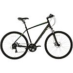 "image of Carrera Crossfire 2 Mens Hybrid Bike - Black - 17"", 19"", 21"" Frames"