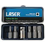 Laser 6 Piece Spline Bit Set