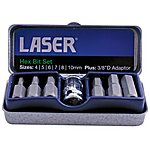 image of Laser 7 Piece Hex Bit Set