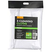 image of Halfords Car Cleaning Cloths 3 Pack
