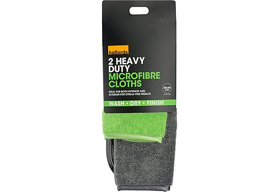 Halfords Advanced Heavy Duty Microfibre Cloths