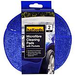 Halfords Microfibre Cleaning Pads with Pockets x2