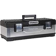 "image of Stanley 26"" Galvanised Metal/Plastic Toolbox"