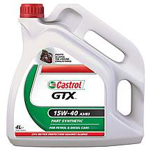 image of Castrol GTX 15W40 Oil 4 Litre