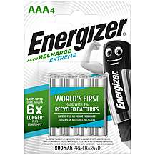 image of Energizer Rechargeable Extreme AA 800 mAh 4 Pack
