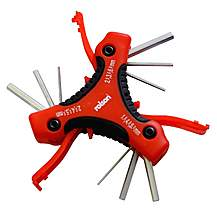 image of Rolson Folding Triangle Hex Key Set