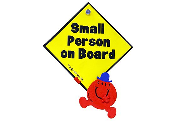 Mr Men Small Person On Board Sign