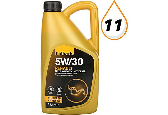 Halfords 5W30 Fully Synthetic Renault Motor Oil 2 Litres