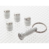 Spinning Anti-Theft Valve Caps Silver