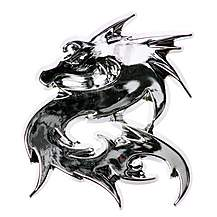image of Dragon Chrome Badge