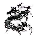 Dragon Chrome Badge