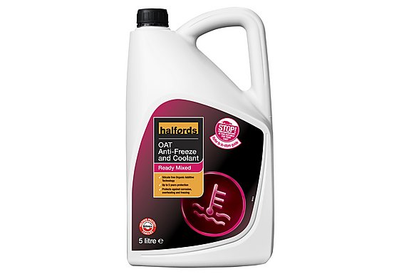 Halfords OAT Ready Mixed Antifreeze 5 Litres