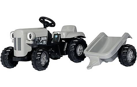 image of Rolly Kid Little Grey Fergie Tractor & Trailer