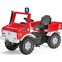 image of Rolly Toys Fire Bridge Unimog Pedal Ride On