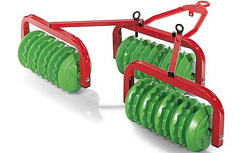 image of Rolly Toys Green Triple Cambridge Roller