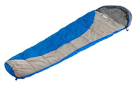 image of Urban Escape Junior Tahoe Mummy Sleeping Bag Blue
