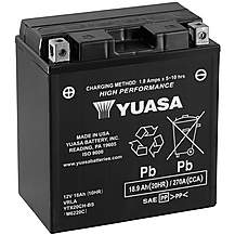 image of Yuasa YTX20CH-BS 12V High Performance Maintenance Free VRLA Battery