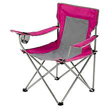 image of Halfords Folding Arm Chair Pink