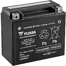 image of Yuasa YTX20H-BS 12V High Performance Maintenance Free VRLA Battery